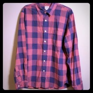 Pink and purple plaid j crew button down